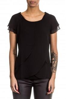 Janice & Jo Damen 1/2 Arm Bluse Layer Look schwarz