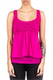 FUZZI Damen Top magenta