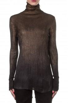 AVANT TOI Damen Kaschmir Mix Rollkragen Pullover schwarz bronze