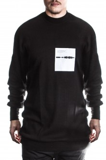 Julius Herren Oversized Langarm Sweatshirt schwarz