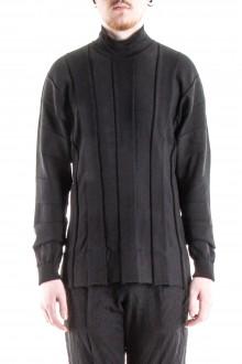 ISSEY MIYAKE Herren Oversized Rollkragen Pullover schwarz