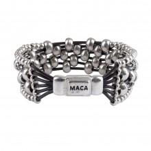 MACA Kitzbühel Armband A055 silber und braun