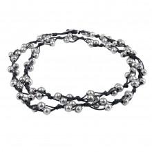 MACA Kitzbühel Halskette K015 silber und schwarz