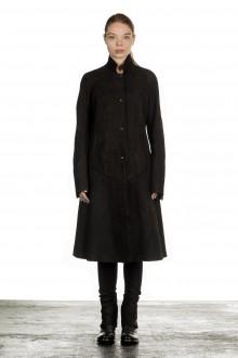 Isaac Sellam Damen Leder Mantel schwarz