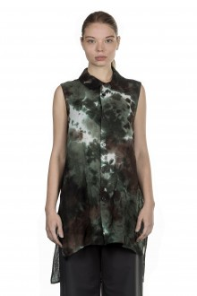 Y's Yohji Yamamoto Damen Bluse camouflage