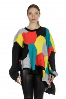 Issey Miyake Damen Pullover Plisseestrick multicolour