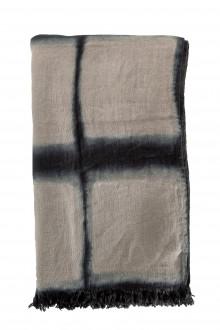 Suzusan Leinen Schal Shibori multicolour