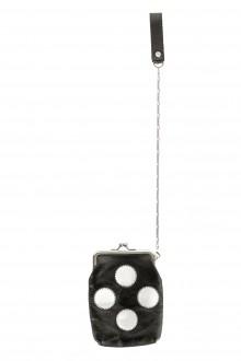 Yohji Yamamoto Y's Damen Leder Portemonnaie schwarz weiß