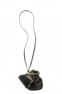 Yohji Yamamoto Y's Damen Leder Multi Pochette schwarz