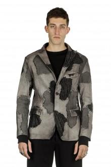 AVANT TOI Herren Woll Sakko camouflage taupe