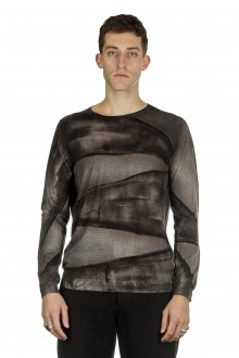 AVANT TOI Herren Kaschmir-Seide Pullover schwarz Print