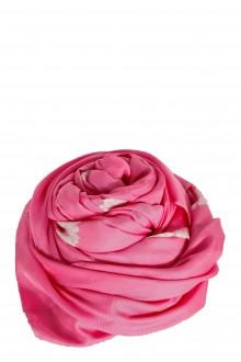 Suzusan Damen Seide Tuch pink weiß