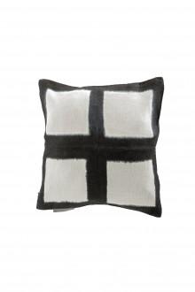 Suzusan Leinen Kissenbezug Shibori schwarz weiß