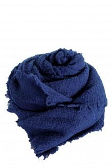 Faliero Sarti Gestrickter Schal 'ALEXIA' aus Schurwollmischung blau