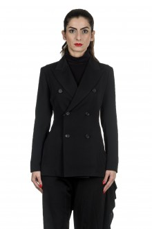 Yohji Yamamoto Damen Avantgarde Doppelreihiger Blazer schwarz