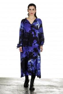 Yohji Yamamoto Damen Avantgarde Hemdblusenkleid mehrfarbig