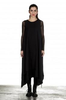 Yohji Yamamoto Damen Avantgarde Kleid in A-Linie schwarz