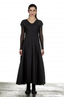 Issey Miyake Plissée Avantgarde Damen Kleid schwarz
