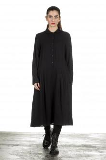 Apuntob Damen Avantgarde Hemdblusenkleid schwarz