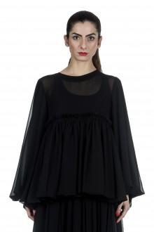 Comme Des Garçons Damen Bluse mit weiten Ärmeln schwarz