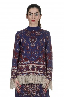 Paco Rabanne Damen Pullover 'Persian Tapestry' mit Print multicolor