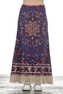 Paco Rabanne Damen Maxirock 'Persian Tapestry' mit Print multicolor