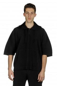 Homme Plissé Issey Miyake Herren Oversize Kapuzenshirt schwarz