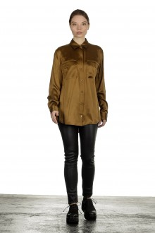 Equipment Seidenbluse olive