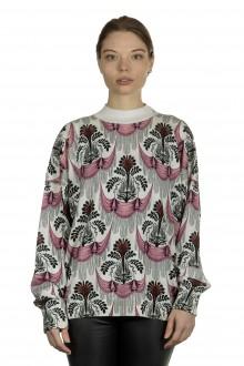 Paco Rabanne Damen Pullover mit Print multicolor