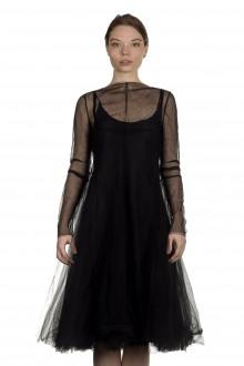 Marc Le Bihan Damen Tüll Kleid schwarz