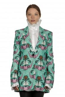 Paco Rabanne Damen Blazer mit Print multicolor