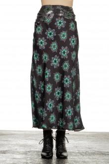 Paco Rabanne Damen Rock mit Blumen-Print mehrfarbig