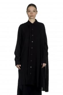 Yohji Yamamoto Damen Avantgarde Cape Bluse schwarz