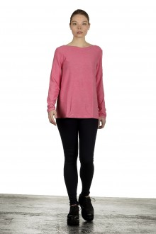 The Swiss Label Damen Langarm Shirt fuchsia