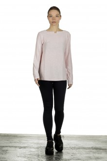 The Swiss Label Damen Langarm Shirt puder