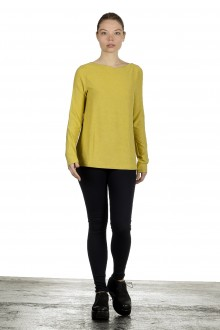 The Swiss Label Damen Langarm Shirt gelb