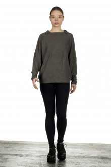 The Swiss Label Damen Langarm Shirt taupe