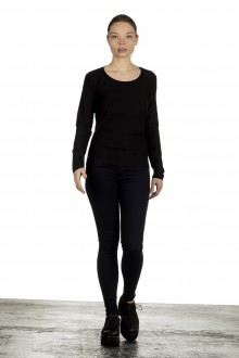 The Swiss Label Damen Langarm Shirt schwarz