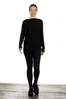 The Swiss Label Damen Langarm Shirt schwarz