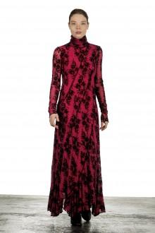 FUZZI Damen Maxikleid mit Blumenstickerei schwarz pink