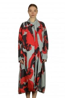 Issey Miyake Damen Mantel mit grafischem Print mehrfarbig