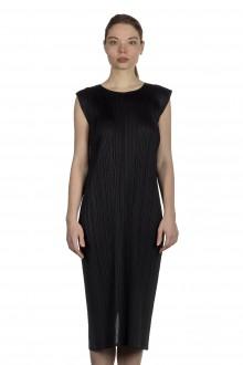Pleats Please Issey Miyake Plissiertes Avantgarde Kleid schwarz