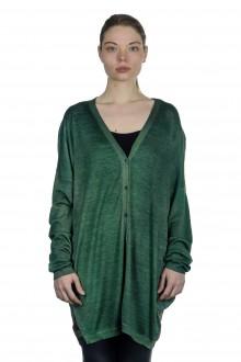 AVANT TOI Damen Cardigan aus Kaschmir-Seidengemisch grün