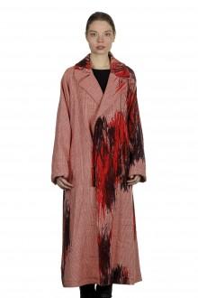 Y's Yohji Yamamoto Damen Oversized-Mantel mit abstraktem Print rot