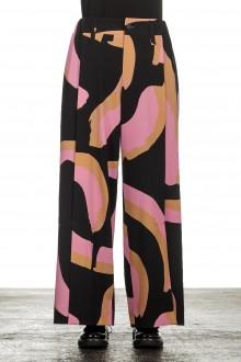 Issey Miyake Avantgarde Damen Hose mit Print mehrfarbig