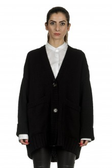 Larens Zurich Damen Kaschmir Cardigan oversized schwarz