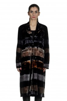 AVANT TOI Damen Mantel mit Streifen multicolor taupe