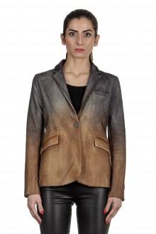 AVANT TOI Damen Blazer mit Farbverlauf grau gold