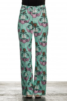 Paco Rabanne Damen Hose mit Blumenmuster mehrfarbig