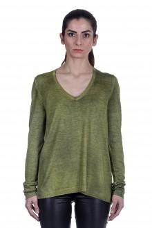 AVANT TOI Damen Pullover aus Kaschmir-Seidengemisch grün